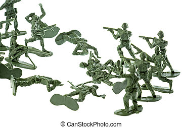 Toy Soldiers Isolated - Isolated image of toy soldiers.