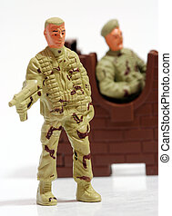 Toy soldiers.