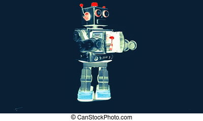 toy - old robot toy attacks