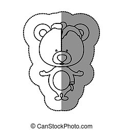 Toy teddy bear damaged design