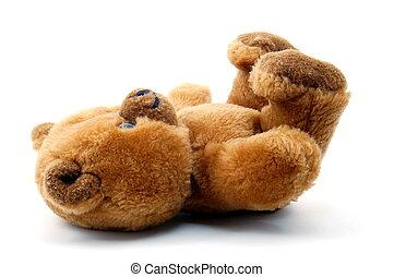 teddy bear isolated on white background - toy teddy bear...