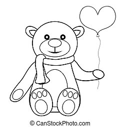 toy teddy bear with balloon