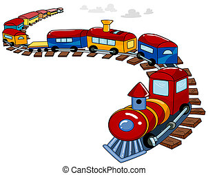 Toy Train Background - Background Design Featuring a Toy...