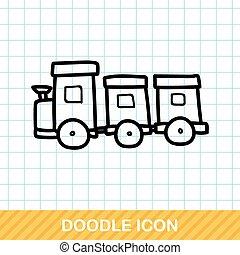toy train doodle