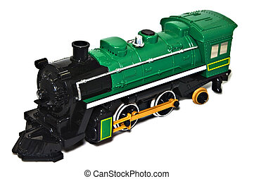 Toy Train Engine - A toy train engine on white background.