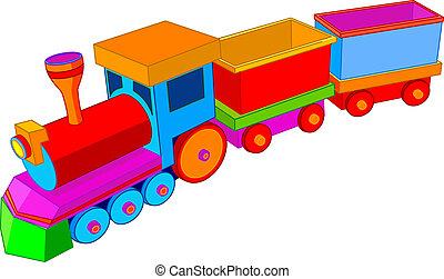 Toy train - Beautiful multi colored toy train