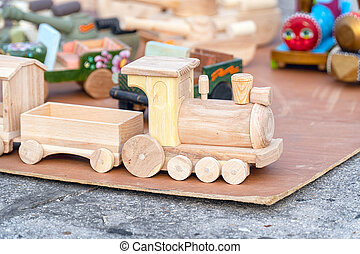 Toy train made of wood