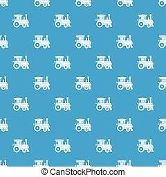 Toy train pattern seamless blue