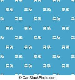 Toy train pattern seamless blue