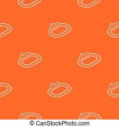 Toy train pattern vector orange