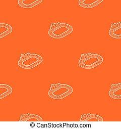 Toy train pattern vector orange