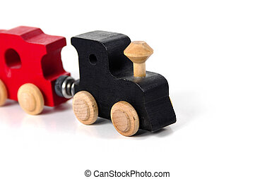 Toy Train - Photo of a Toy Wooden Train.