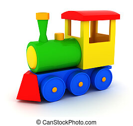 Toy train - Toy locomotive illustrations 3d isolated on...
