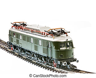 Toy train with an electric locomotive