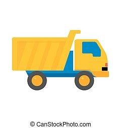 Toy Truck Cartoon Vector Illustration.