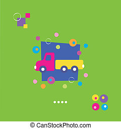 toy truck greeting card