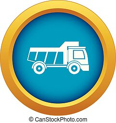 Toy truck icon blue vector isolated