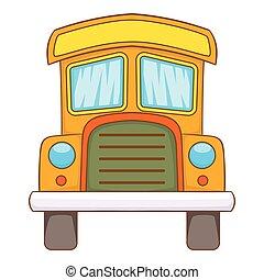 Toy truck icon, cartoon style