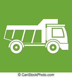 Toy truck icon green