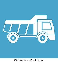 Toy truck icon white