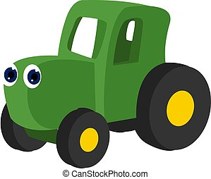 Toy truck, illustration, vector on white background.