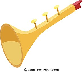 Vector clipart of trumpet toy for kids icon outline style toy trumpet icon cartoon style sciox Choice Image