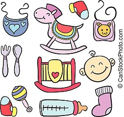 Toy various style baby doodles