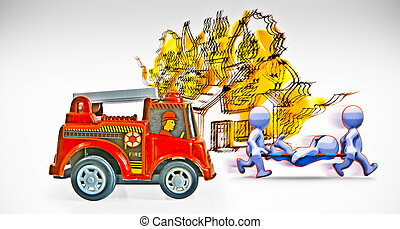 Toy Vehicle, Fire Brigade