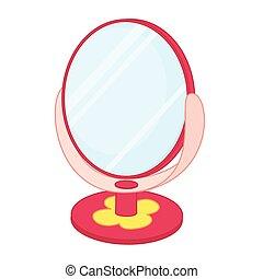 toy., vettore, illustrazione, specchio