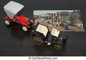 Toy vintage cars