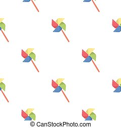Toy windmill cartoon icon. Illustration for web and mobile...
