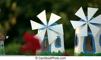Toy Windmill is Turning
