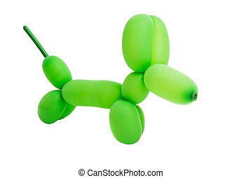 toy with air balloon dog isolated