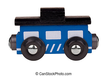 Toy wood train caboose