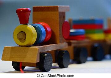 toy - wooden steam locomotive