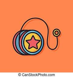 toy yoyo vector icon