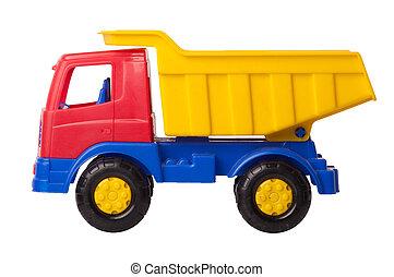 toyen åker lastbil, isolerat