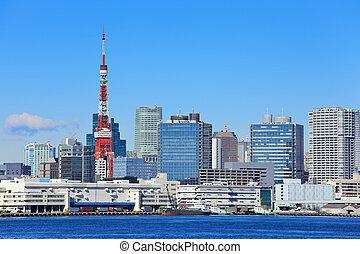 Toyko bay in sunny day