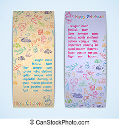 Toys banners set
