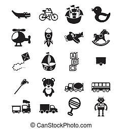 toys design - toys design over white background vector...