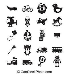 toys design - toys design over white background vector...
