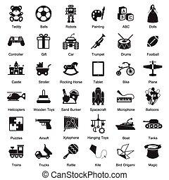 Toys icon set EPS10
