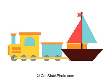 toys kids train and boat