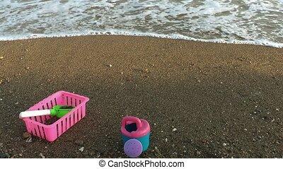 Toys near the seaside