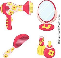 Toys set. Hairdresser