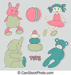 toys, set of stickers