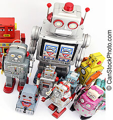 toys - group of robot toys