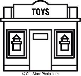 Toys street shop icon, outline style