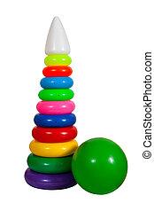 toys., vrijstaand, op wit