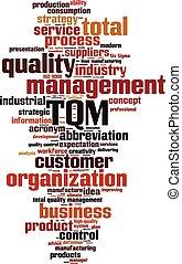 TQM word cloud concept. Vector illustration